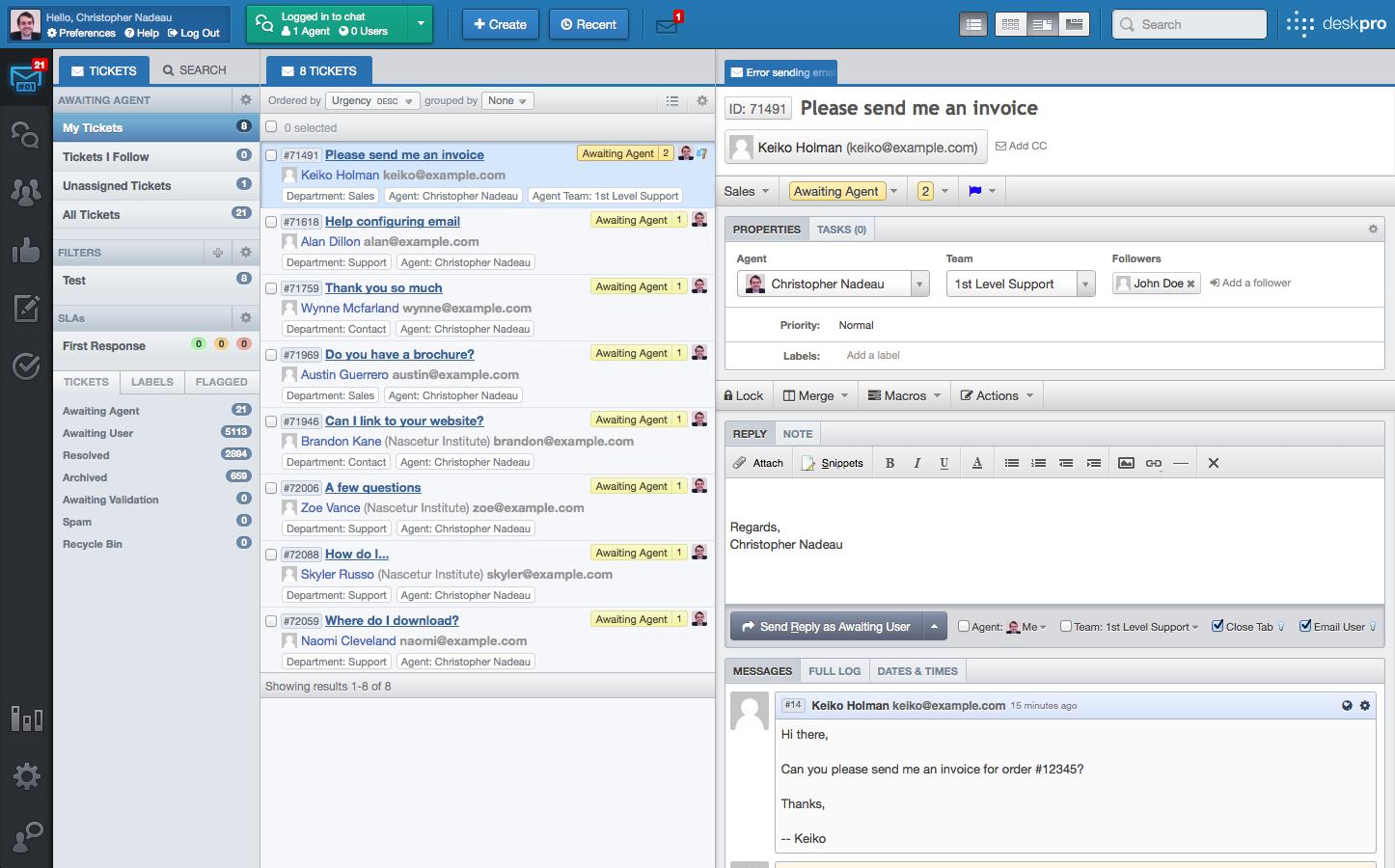 Image Gallery Help Desk Software